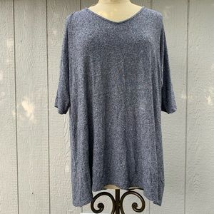 J. Jill Grey Over Sized Stretch Tunic Top